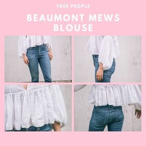 FREE PEOPLE Beamont Mews Blouse (S)